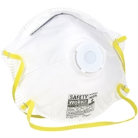 Safety Works N95 Harmful Dust Disposable Respirator w/ Exhalation Valve 10102483 Case of 120