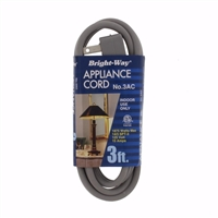 Bright-Way 3 ft Appliance Extension Cord 3AC Case of 10