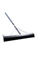 "Midwest Rake® 24"" General Purpose Squeegee 66"" Blue Aluminum Handle 76924"