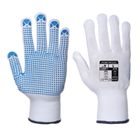 Portwest Abrasion Resistance Nylon Polka Dot Gloves Bone A110