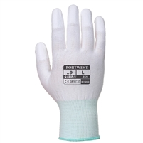 Portwest Abrasion Resistance PU Fingertip General Handling Gloves White A121