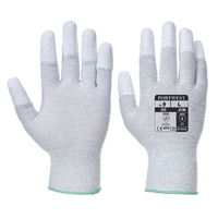 Portwest Chemical Antistatic PU Fingertip Gloves Gray A198