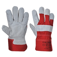 Portwest Premium Chrome Rigger Gloves Red/Gray A220