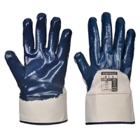 Portwest Nitrile Safety Cuff General Handling Gloves Navy Blue A301