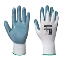 Portwest Nitrile Flexo Grip General Handling Gloves White/Gray A310