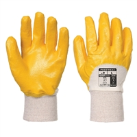 Portwest Nitrile Light Knitwrist General Handling Gloves Yellow A330