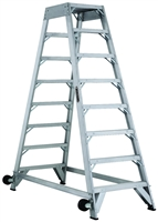 Louisville Ladder 8 Foot Aluminum Industrial Aircraft Mechanic Ladder AM8008