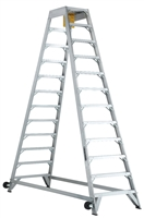 Louisville Ladder 12 Foot Aluminum Industrial Aircraft Mechanic Ladder AM8012