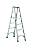 Louisville Ladder 4 Foot Aluminum Twin Platform Front Step Ladder AMP1004