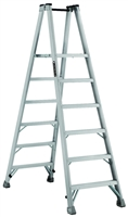 Louisville Ladder 6 Foot Aluminum Twin Platform Front Step Ladder AMP1006