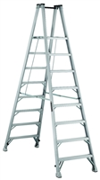 Louisville Ladder 8 Foot Aluminum Twin Platform Front Step Ladder AMP1008