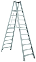 Louisville Ladder 10 Foot Aluminum Twin Platform Front Step Ladder AMP1010