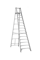 Louisville Ladder 14 Foot Aluminum Industrial Platform Step Ladder AP1014