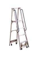 Louisville Ladder 4 Foot Aluminum Mobile Platform Rolling Ladder AP5004