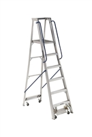 Louisville Ladder 6 Foot Aluminum Mobile Platform Rolling Ladder AP5006