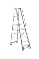 Louisville Ladder 8 Foot Aluminum Mobile Platform Rolling Ladder AP5008