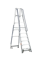 Louisville Ladder 10 Foot Aluminum Mobile Platform Rolling Ladder AP5010