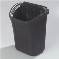 Carlisle Trash Bin for Bussing Cart 7 gal Black