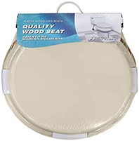 Aqua Plumb CTS100BO Round Wood Toilet Seat Bone Case of 6