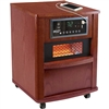 Comfort Zone CZ2062C Premium Infrared Heater Wood Cabinet Cherry With Remote