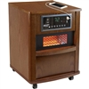 Comfort Zone CZ2062W Premium Infrared Heater Wood Cabinet Walnut With Remote