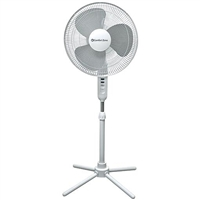 "Comfort Zone CZST161BTE 16"" Oscillating Pedestal Fan White"