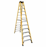 Dewalt 12 ft Fiberglass Twin Front Stepladder 300 lbs Load Capacity DXL3030-12
