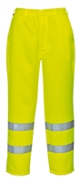 Portwest Hi-Vis Polycotton Pants Yellow E041