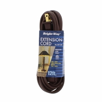 Bright-Way 12 ft Household Extension Cord Brown EE12 Case of 10
