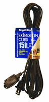 Bright-Way 15 ft Household Extension Cord Brown EE15 Case of 10