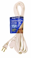 Bright-Way 15 ft Household Extension Cord White EE15W Case of 10