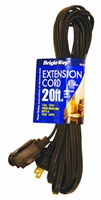 Bright-Way 20 ft Household Extension Cord Brown EE20 Case of 10