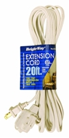 Bright-Way 20 ft Household Extension Cord White EE20W Case of 10