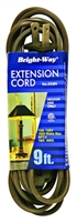Bright-Way 9 ft Household Extension Cord Brown EE9 Case of 10
