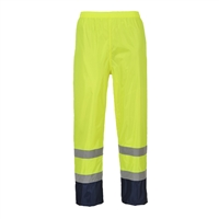 Portwest Hi-Vis Classic Contrast Rain Pants Yellow/Black H444