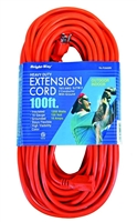 Bright-Way 100 ft Heavy-Duty Outdoor Extension Cord Grounded R2600