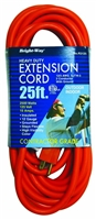 Bright-Way 25 ft Super Heavy-Duty Outdoor Extension Cord Grounded R3125