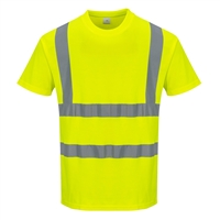 Portwest Cotton Comfort Short Sleeved T-Shirt Yellow S170