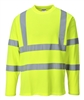 Portwest Cotton Comfort Long Sleeved T-Shirt Yellow S278