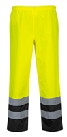 Portwest Hi-Vis Two Tone Traffic Pants Yellow/Black S486