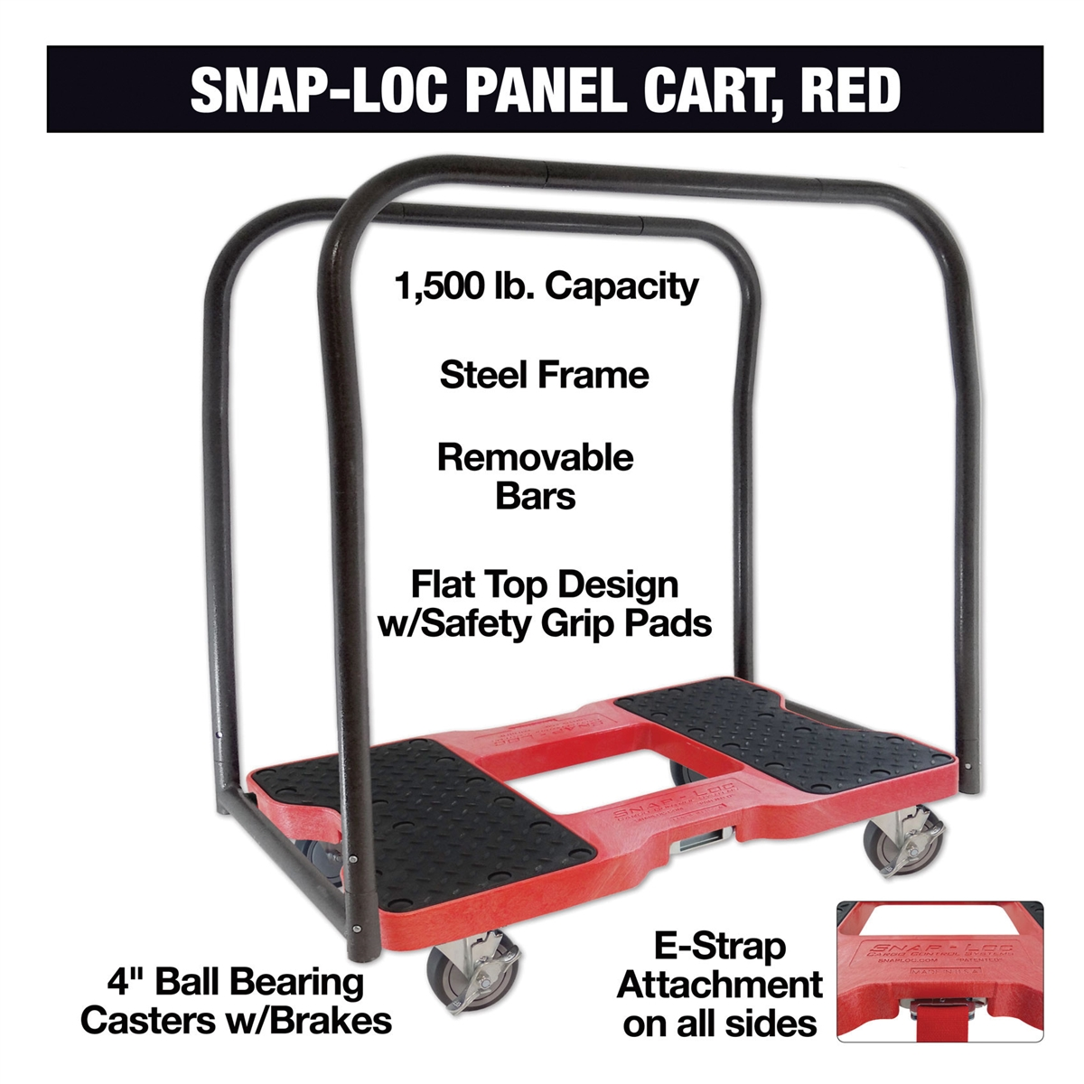 Snap Loc Panel Cart Dolly Red Sl1500pc4r