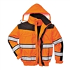 Portwest Hi-Vis Classic Bomber Jacket Orange/Black UC466