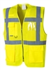 Portwest Madrid Executive Mesh Vest Yellow UC496