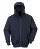 Portwest Flame Resistant Zipper Front Hooded Sweatshirt Navy UFR81
