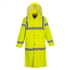 "Portwest Hi-Vis Classic Rain Coat 48"" Yellow UH445"