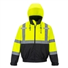 Portwest Hi-Vis Premium 2 in 1 Bomber Jacket Yellow/Black US364