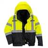 Portwest Hi-Vis Premium 3 in 1 Bomber Jacket Yellow/Black US365