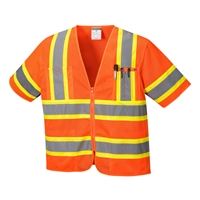 Portwest Augusta Sleeved Hi-Vis Vest Orange US383