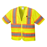 Portwest Augusta Sleeved Hi-Vis Vest Yellow US383Y