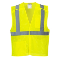 Portwest Economy Mesh Break Away Vest Yellow US384